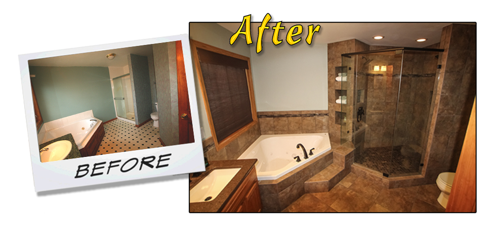 Before & After Bathroom Project 3